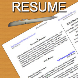 Dan Christensen Digital Marketing Freelancer Resume