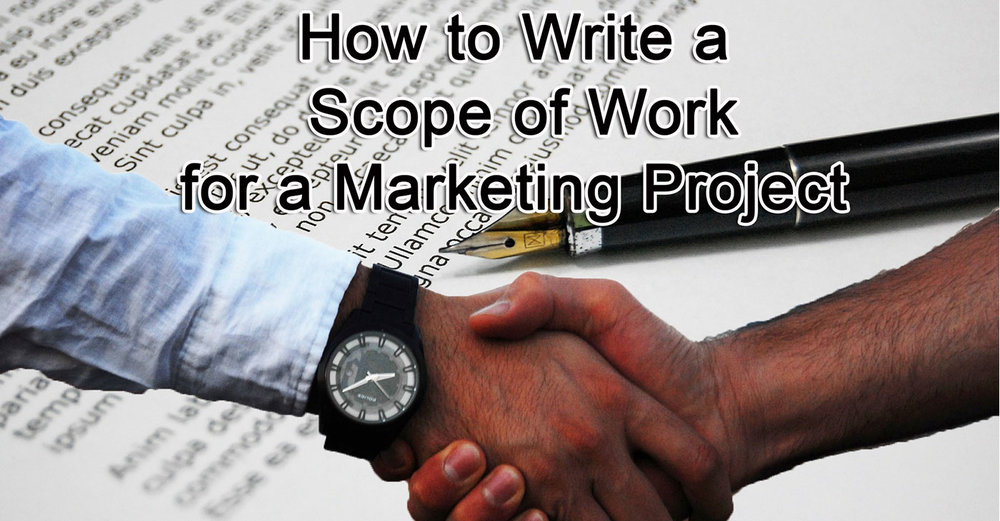 How to Write a Scope of Work for a Marketing Project blog header