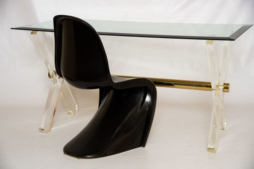 accents ca dresser market il brass lucite etsy desk legs with