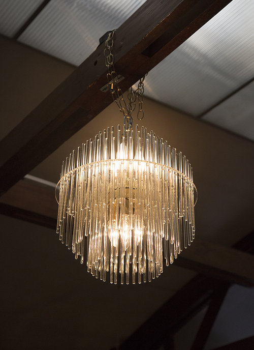 Stunning five tiered glass rod chandelier south loop loft sciolari glass rod chandelier g yc3a4207g yc3a4215g audiocablefo