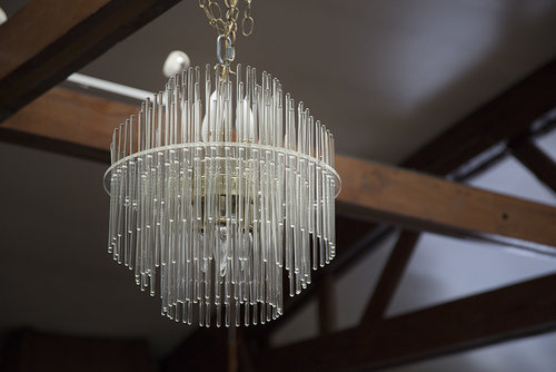 Stunning five tiered glass rod chandelier south loop loft yc3a3997g audiocablefo