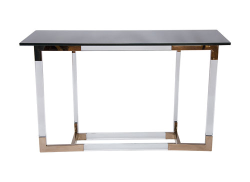 brass console table. Lucite And Brass Console Table By Charles Hollis Jones