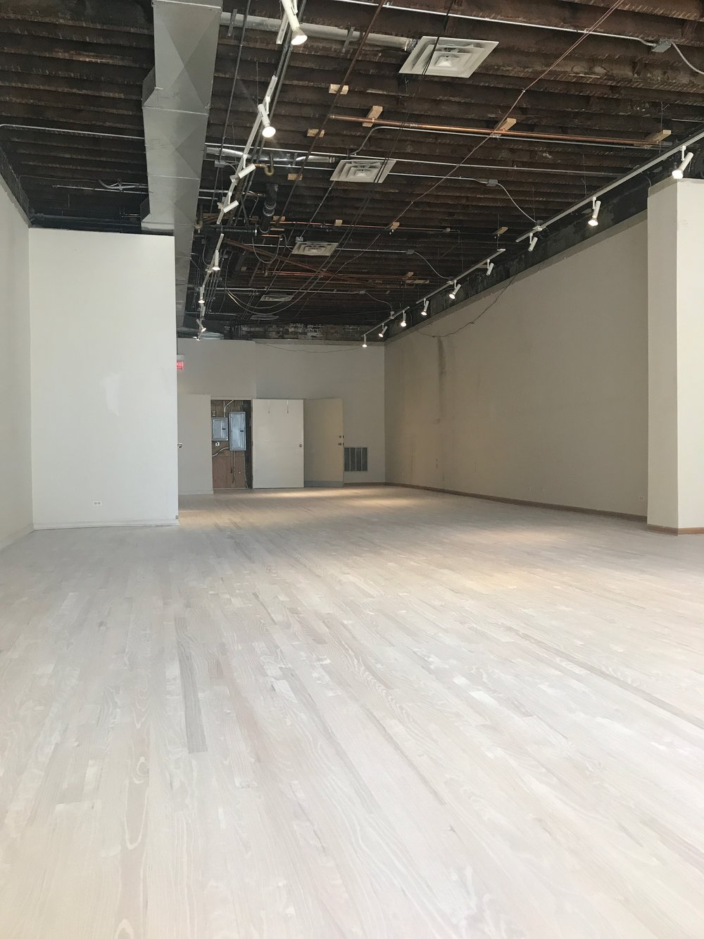 The drop ceiling is down and the floors are almost finished!  -   The space has come along way in 2 weeks! Watch out Instagram Stories for daily updates.