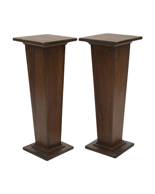 wooden hill vintage park pedestal table