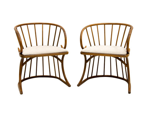 a pair of rare mid century bentwood chairs south loop loft