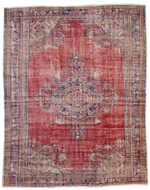 No 07 Faded Turkish Area Rug 6 8 X 9 3 South Loop Loft