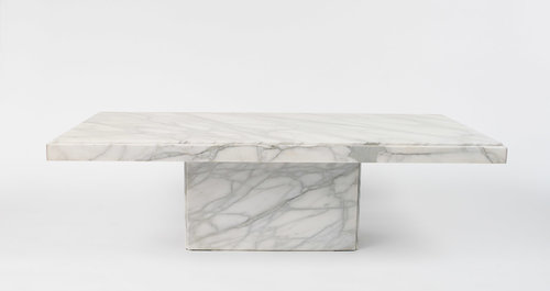 Stunning White Marble Coffee Table L South Loop Loft - Rectangle white marble coffee table