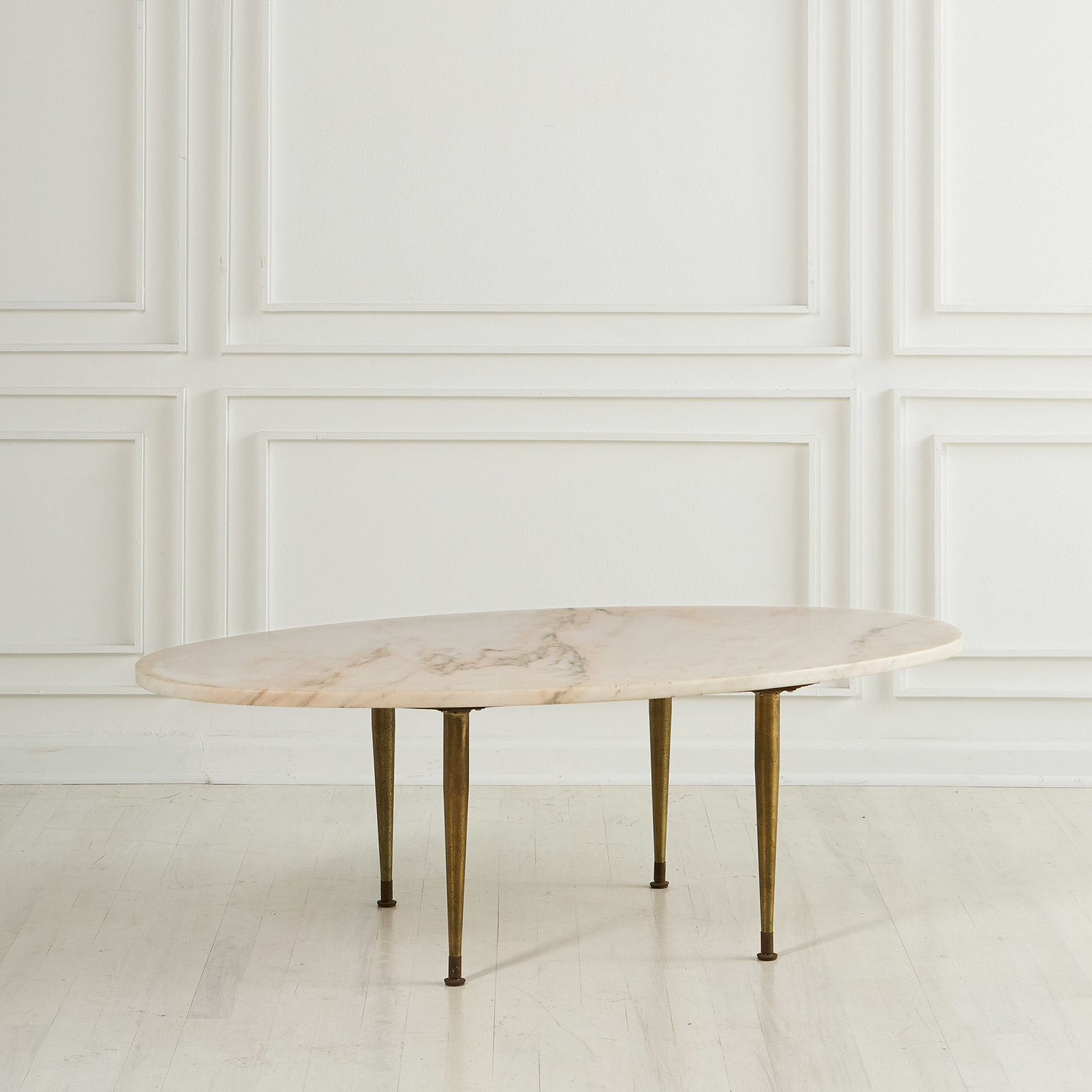 - Vintage Oval Pink Marble Coffee Table — South Loop Loft
