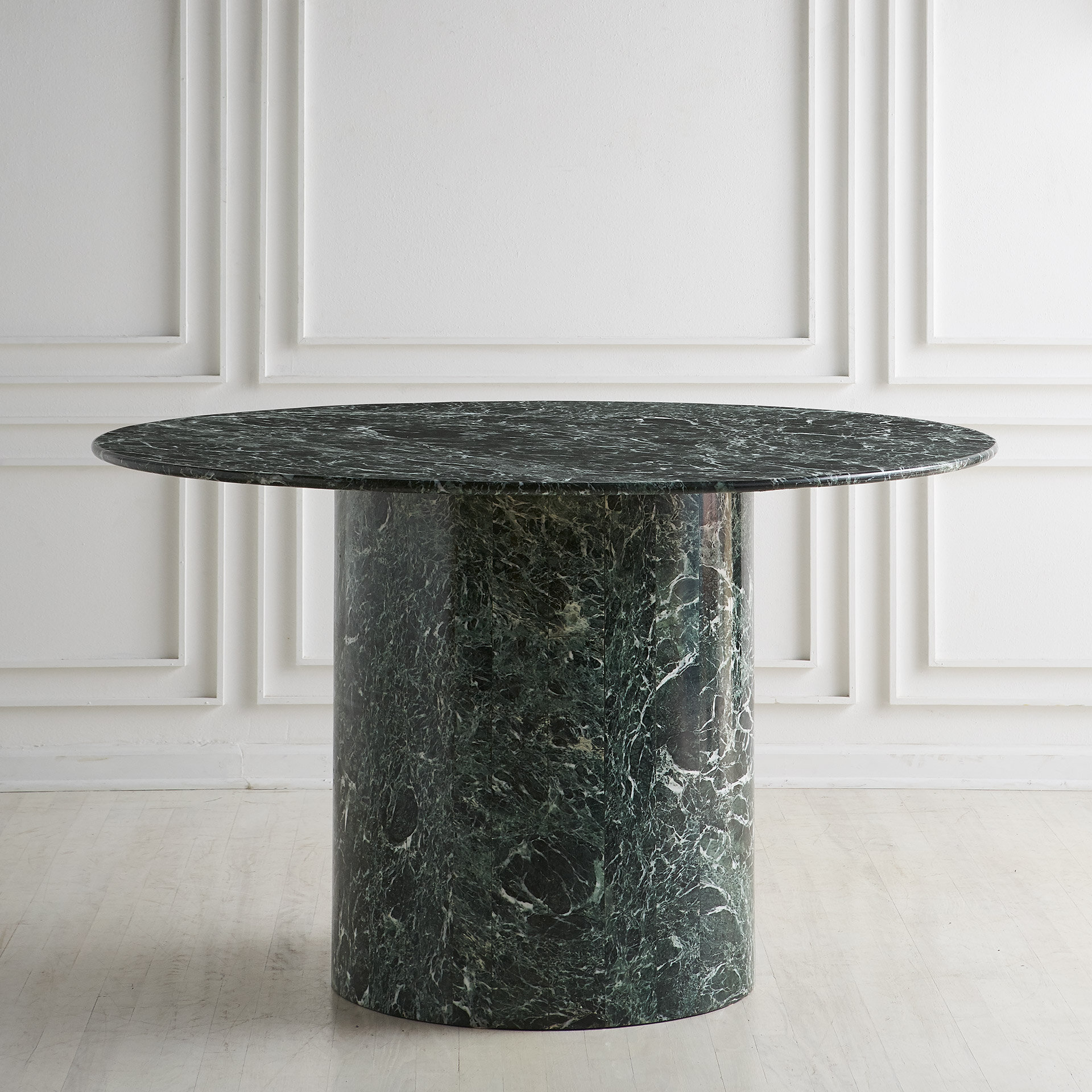 Vintage Green Marble Dining Table South Loop Loft