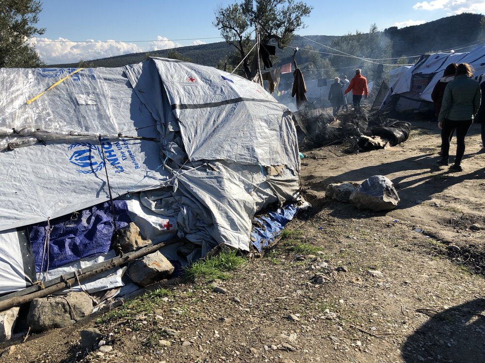 Moria refugee camp, lesbos greece - December 2018