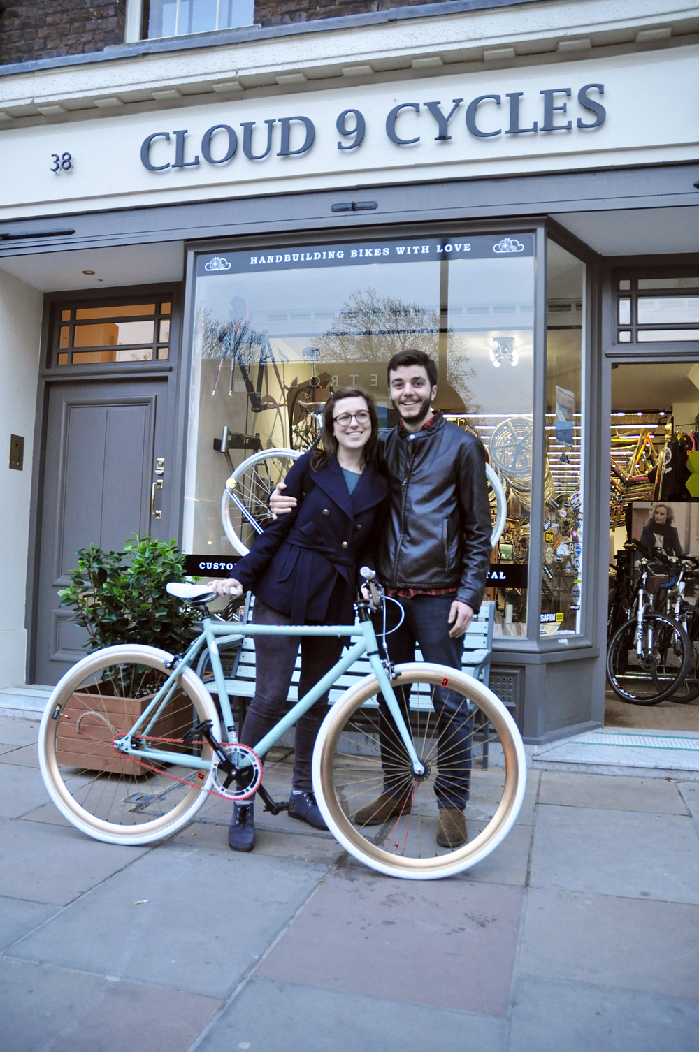 Serena and Frederico with their Create Single Speed