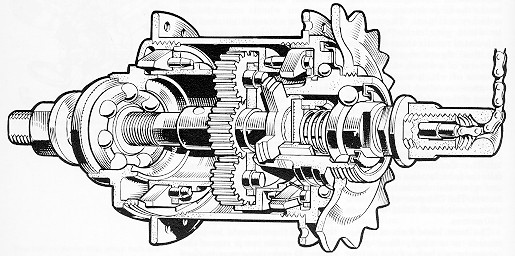 An original 3 speed hub drawing...try fixing this!