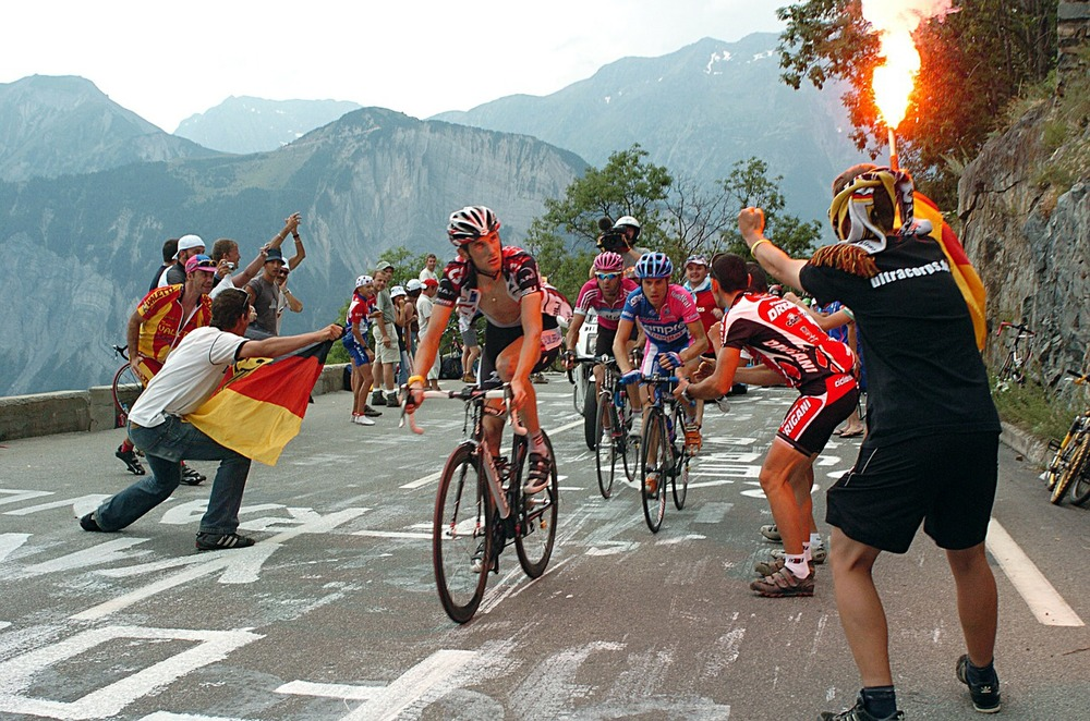 A scene on Alpe d'Huez