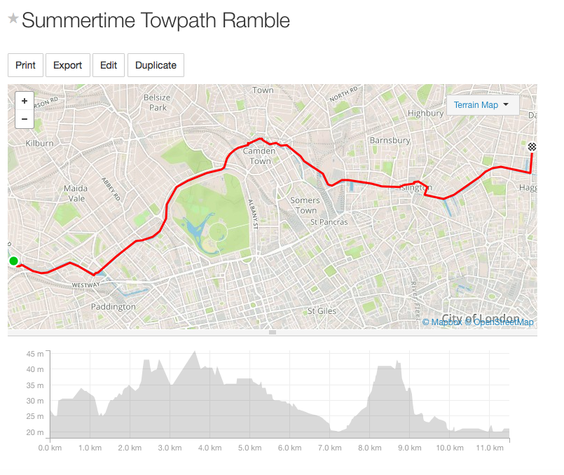 Click for full route detail and to download the GPS