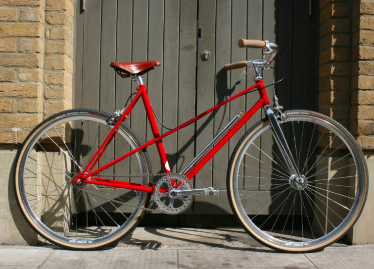 Awesome red Mixte custom build. £849.