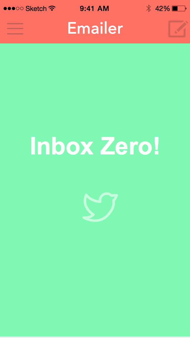 Inbox Zero! Nice Easter Egg if you hit Inbox Zero, which invites users to tweet about it.