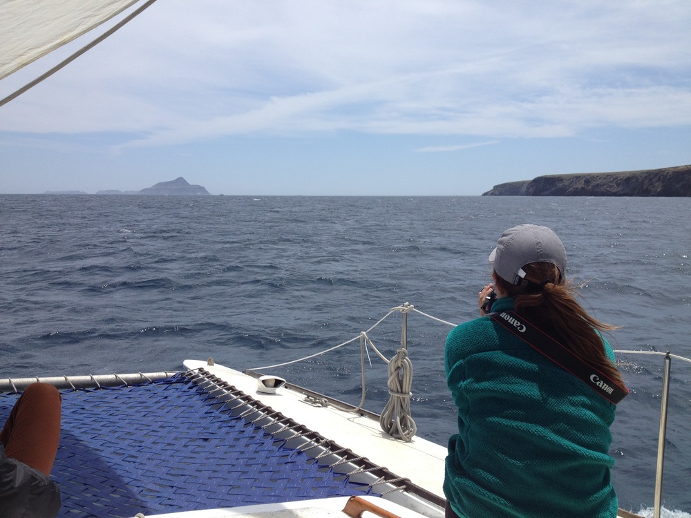 Anacapa Island on the left, Santa Cruz Island on the right. Photo Credit: Andrew Raaf