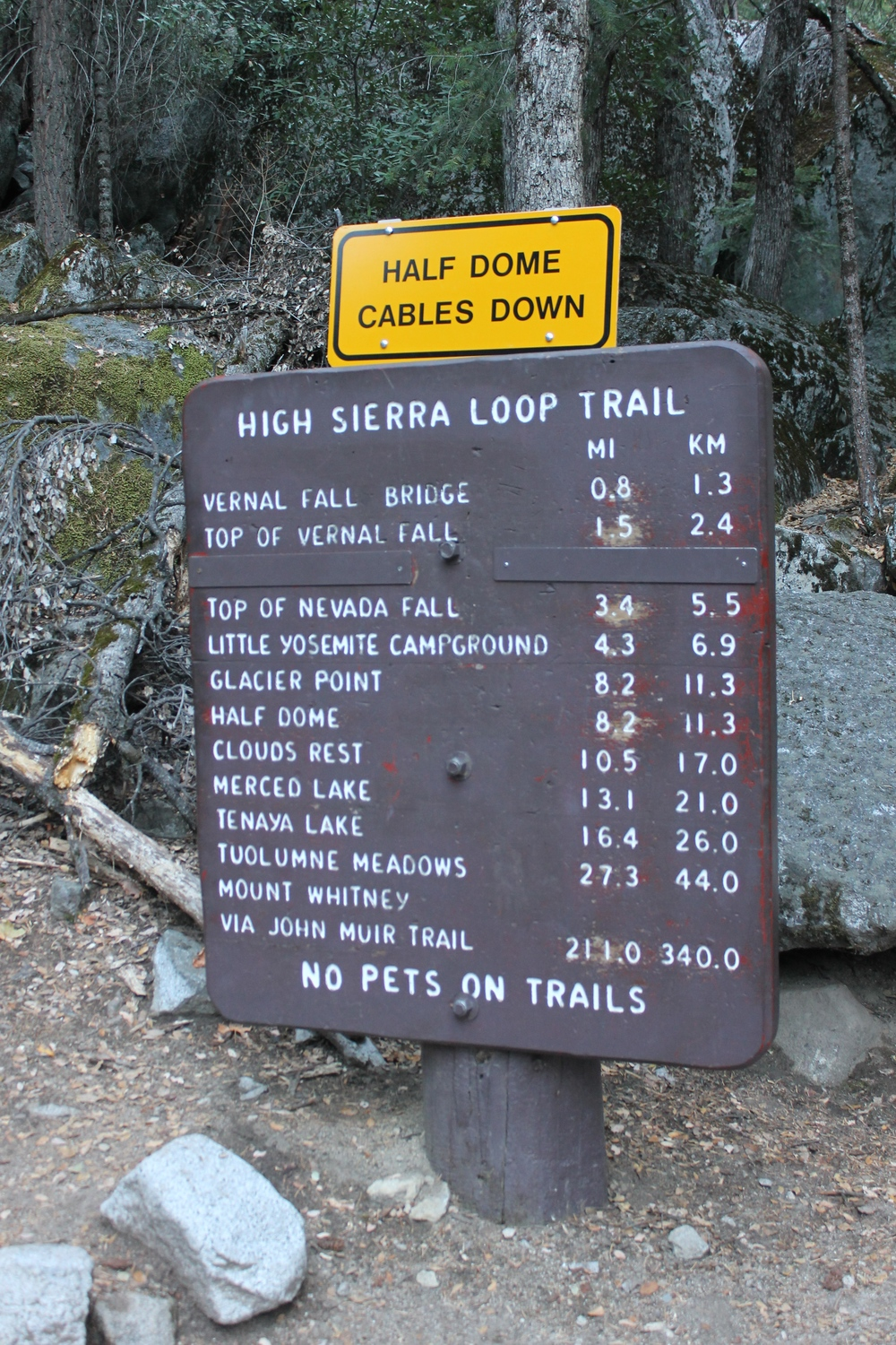 A little reminder that my hike to Clouds Rest will be quite a bit more challenging if Tioga Pass doesn't open...
