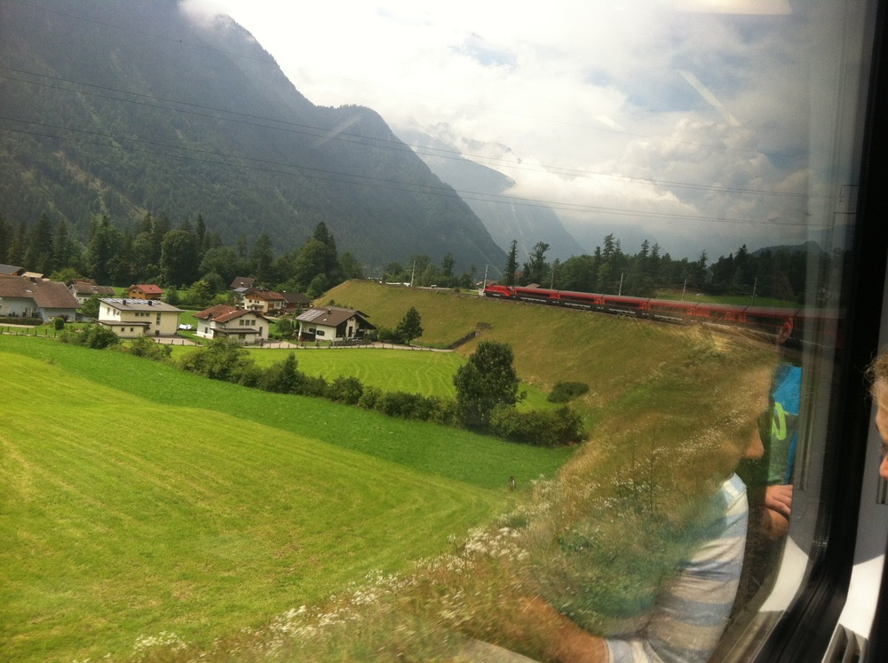 View from the train in Austria
