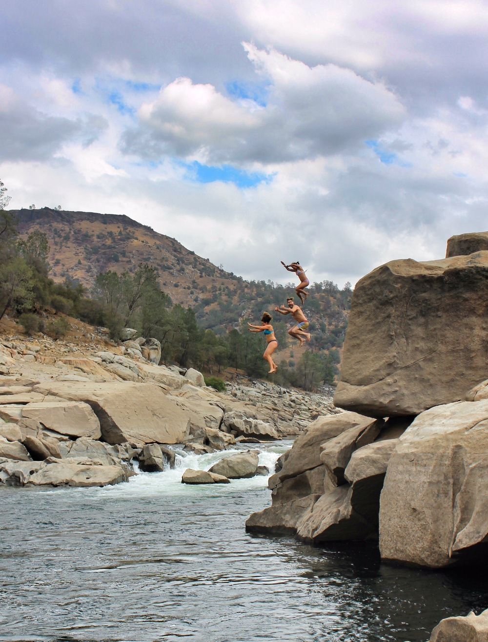 Rock jumping on the San Joaquin River