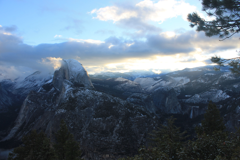 Yosemite National Park. View from Glacier Point.