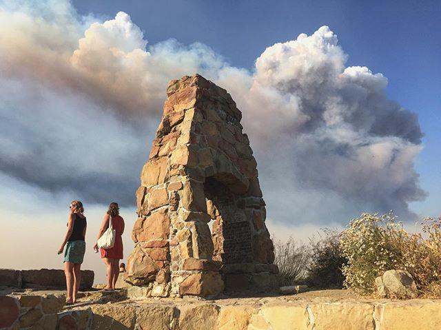 Fire over Knapp's yesterday. #reyfire #knappscastle #santabarbara