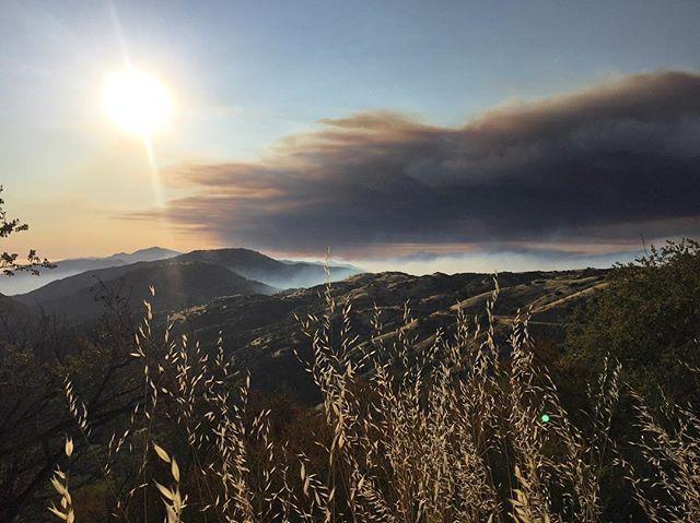 Rey fire from East Camino Cielo (Saturday). #reyfire #santabarbara #California