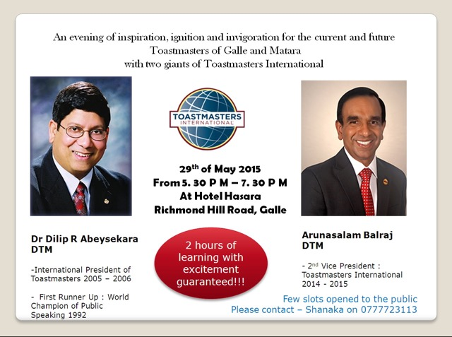 Workshop, May 29, 2015, Sri Lanka