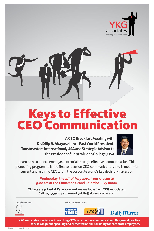 CEO Communication Workshop, May 27, 2015, Colombo, Sri Lanka