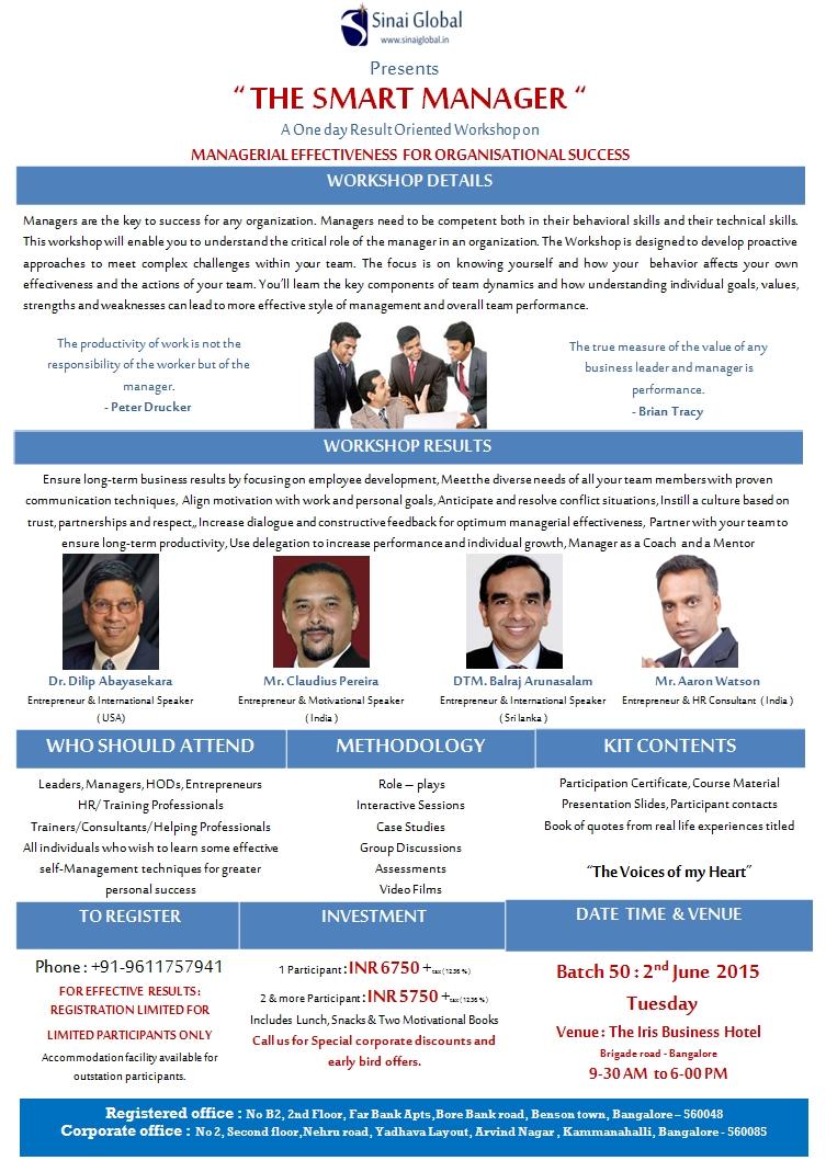 Management Training, June 2, 2015, Sri Lanka