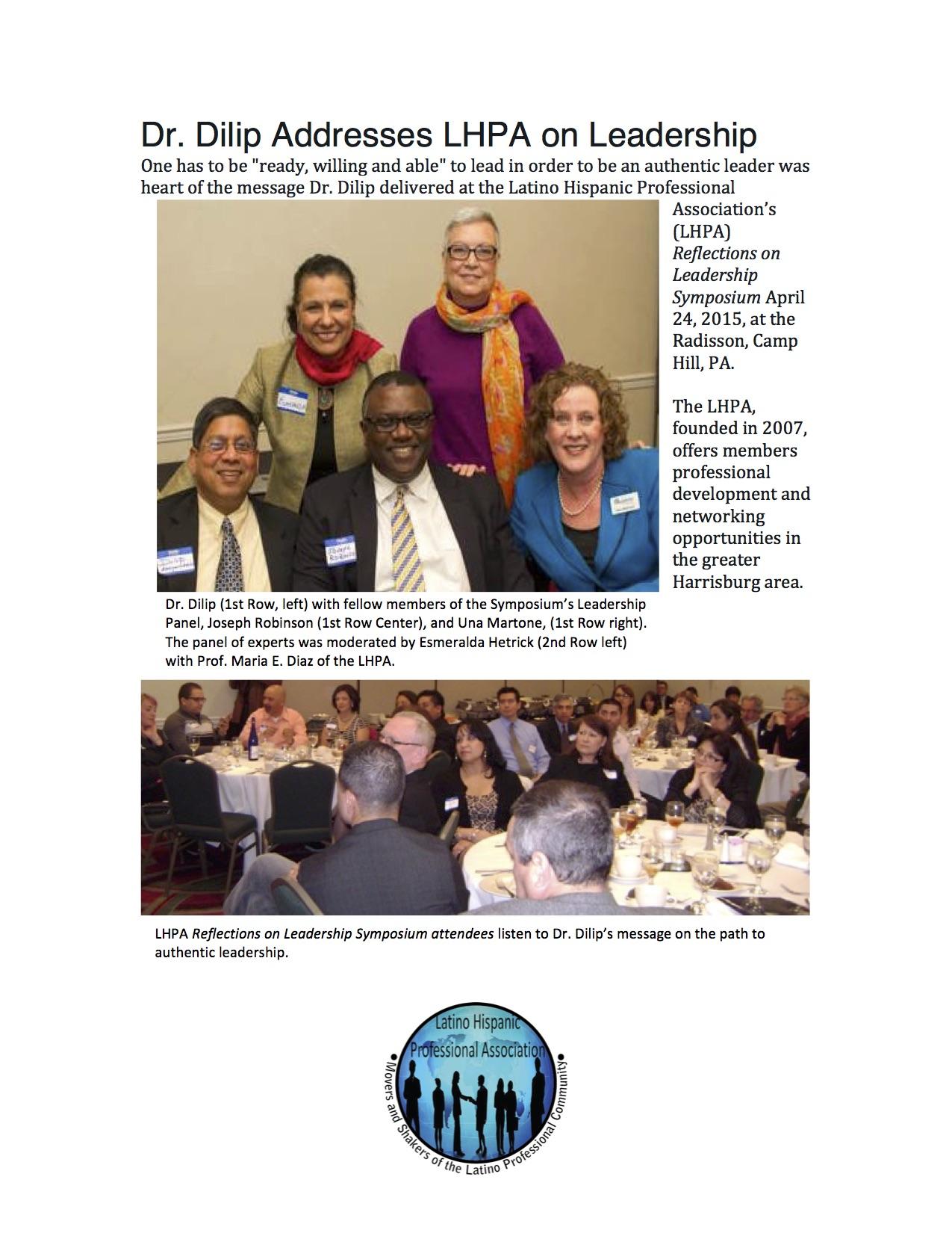 Leadership Symposium Latino Hispanic Professional Assoc. April 24, 2015
