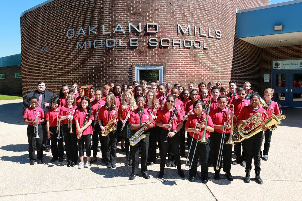 Oakland Mills Middle School Wind Ensemble - March Conference