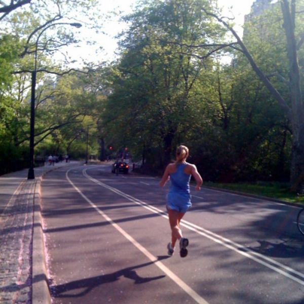 Chasing 20 miles in Central Park, NY, May 2009. Photo: TRACK&FEEL