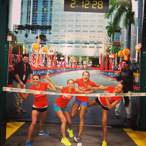 My besties and me practicing our victory laps at the Miami Marathon in January 2013