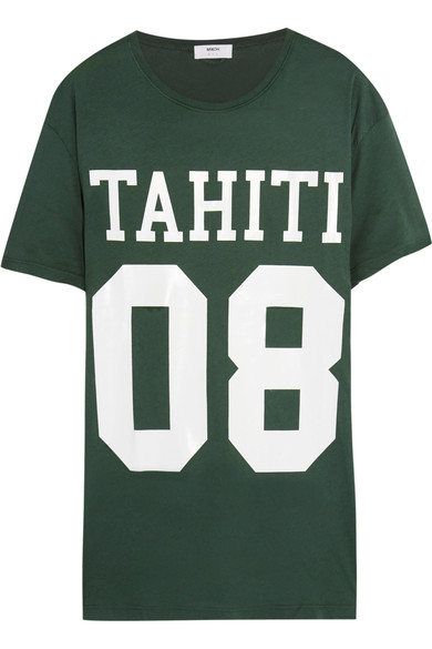 Mikoh printed cotton-jersey T-shirt, $95