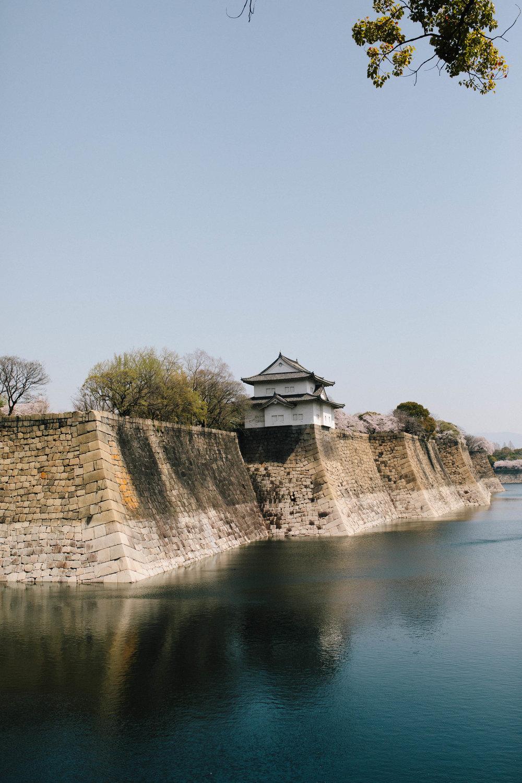 Visiting the Osaka castle