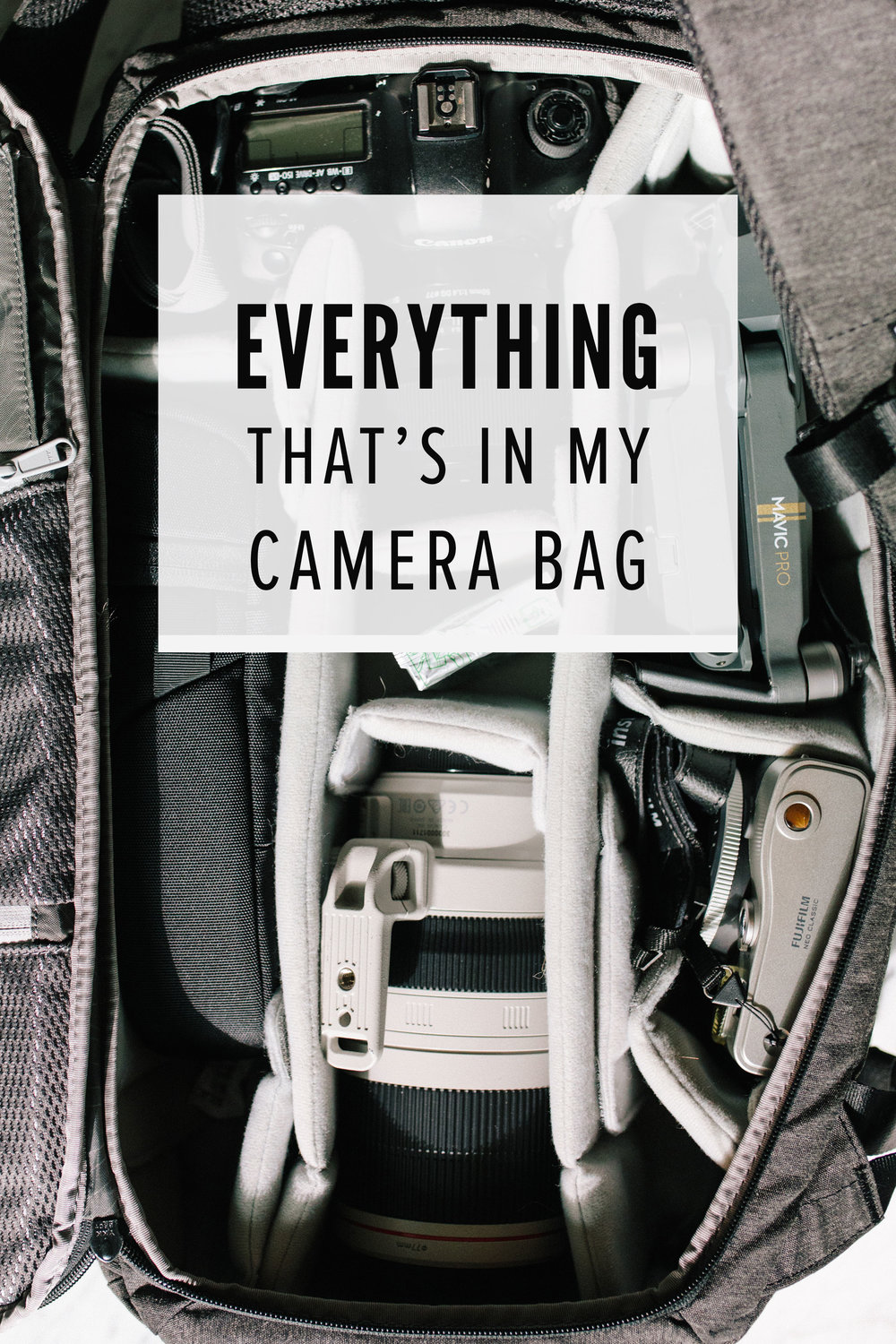My photography gear for food and travel