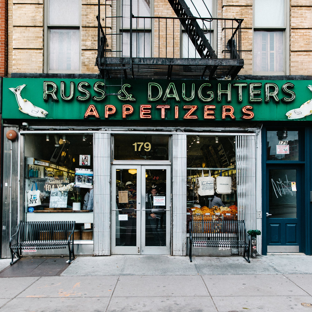 Russ & Daughters Exterior