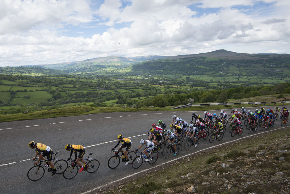 TORFAEN, WALES - MAY 22: Cyclists ride up the Tumble during the 2016 Wales Velothon on May 22, 2016 in Torfaen, Wales. (Photo by Matthew Horwood/Getty Images)