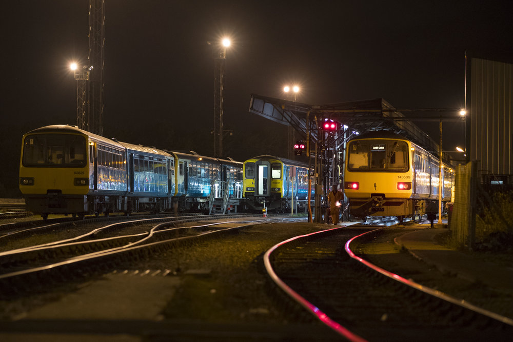 Arriva Trains Wales depot in Cardiff, South Wales