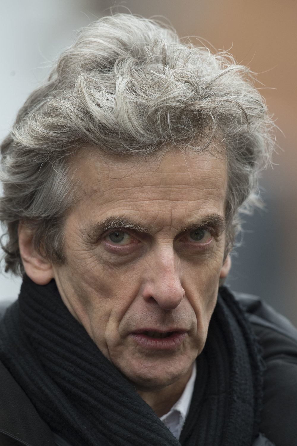 The Doctor Peter Capaldi spotted filming for Series 10 of Doctor Who at Mount Stuart Square in Cardiff Bay, South Wales.