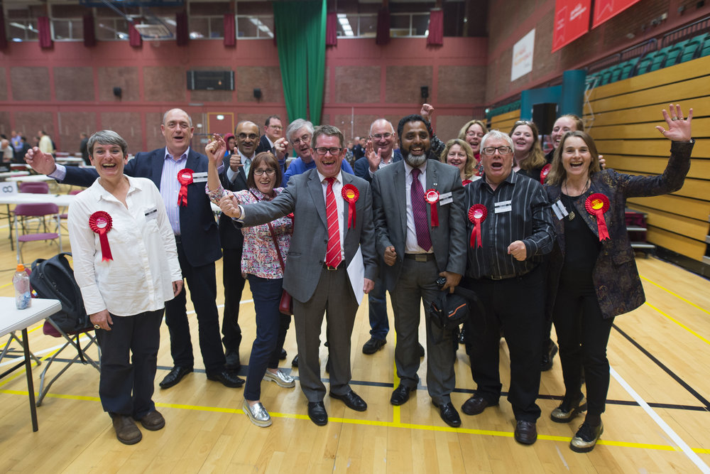 CARDIFF, UNITED KINGDOM - JUNE 09: Kevin Brennan wins Cardiff West for Labour at the Sport Wales National Centre on June 9, 2017 in Cardiff, United Kingdom. After a snap election was called, the United Kingdom went to the polls yesterday following a closely fought election. The results from across the country are being counted and an overall result is expected in the early hours. (Photo by Matthew Horwood/Getty Images)