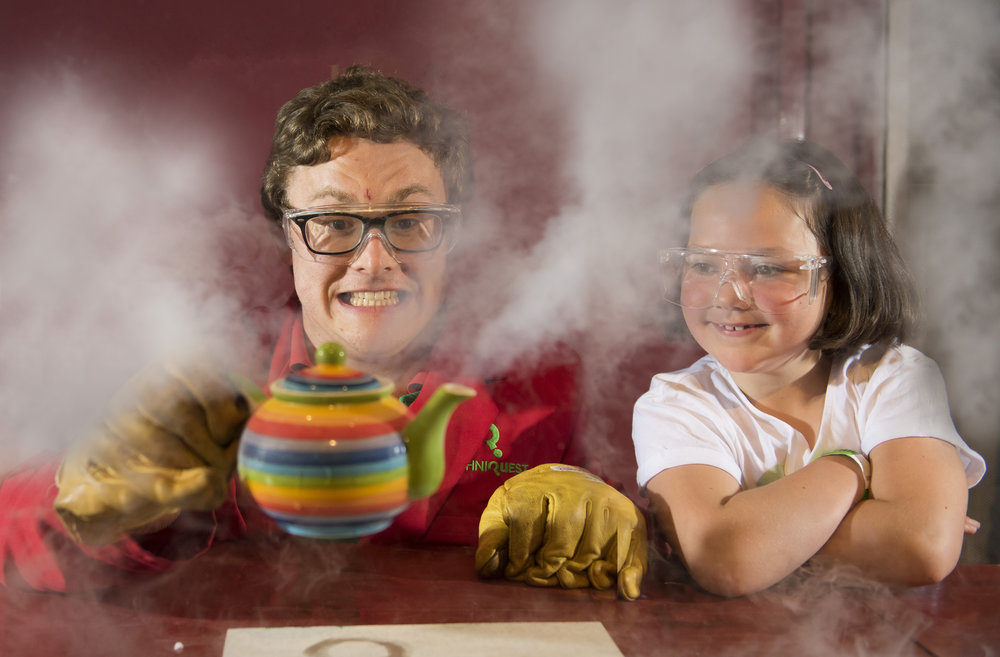 Marketing photography for Techniquest's new Science Shows in Cardiff, south Wales.