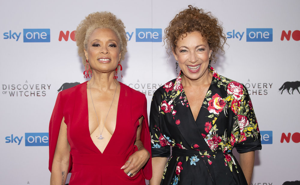 CARDIFF, WALES - SEPTEMBER 05: Valarie Pettiford and Alex Kingston attend the UK Premiere of 'A Discovery Of Witches' at Cineworld on September 5, 2018 in Cardiff, Wales. (Photo by Matthew Horwood/Getty Images)