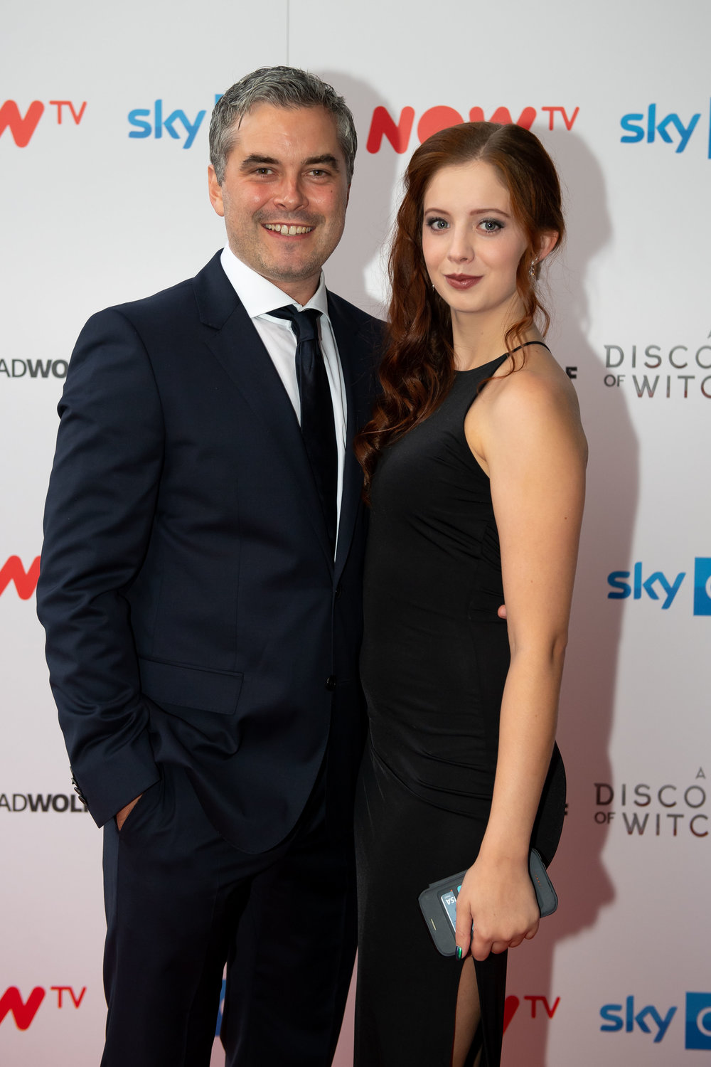 CARDIFF, WALES - SEPTEMBER 05: Trystan Gravelle and Sarah Louise Madison attend the UK Premiere of 'A Discovery Of Witches' at Cineworld on September 5, 2018 in Cardiff, Wales. (Photo by Matthew Horwood/Getty Images)