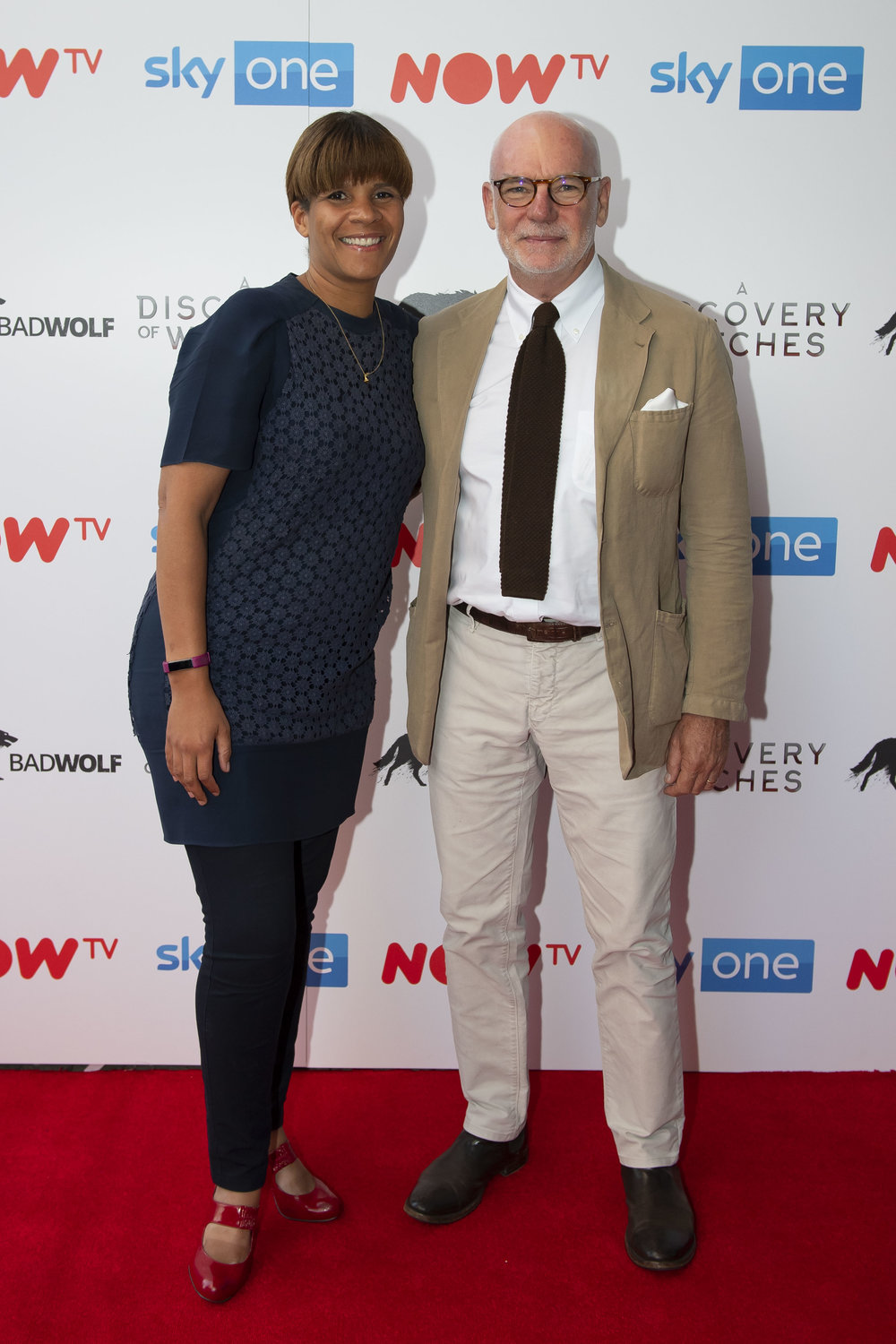 CARDIFF, WALES - SEPTEMBER 05: Anne Mensah, head of drama at Sky, and Gary Davey, managing director of Sky content, attend the UK Premiere of 'A Discovery Of Witches' at Cineworld on September 5, 2018 in Cardiff, Wales. (Photo by Matthew Horwood/Getty Images)