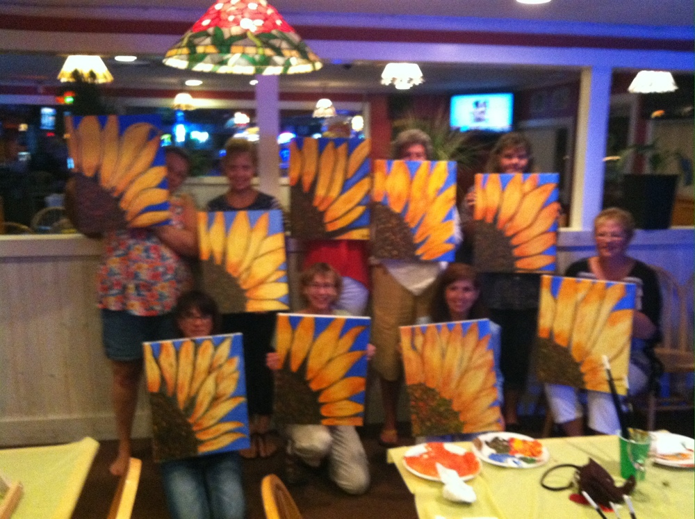 Fun painting Sunflowers at the Lyme Tavern!