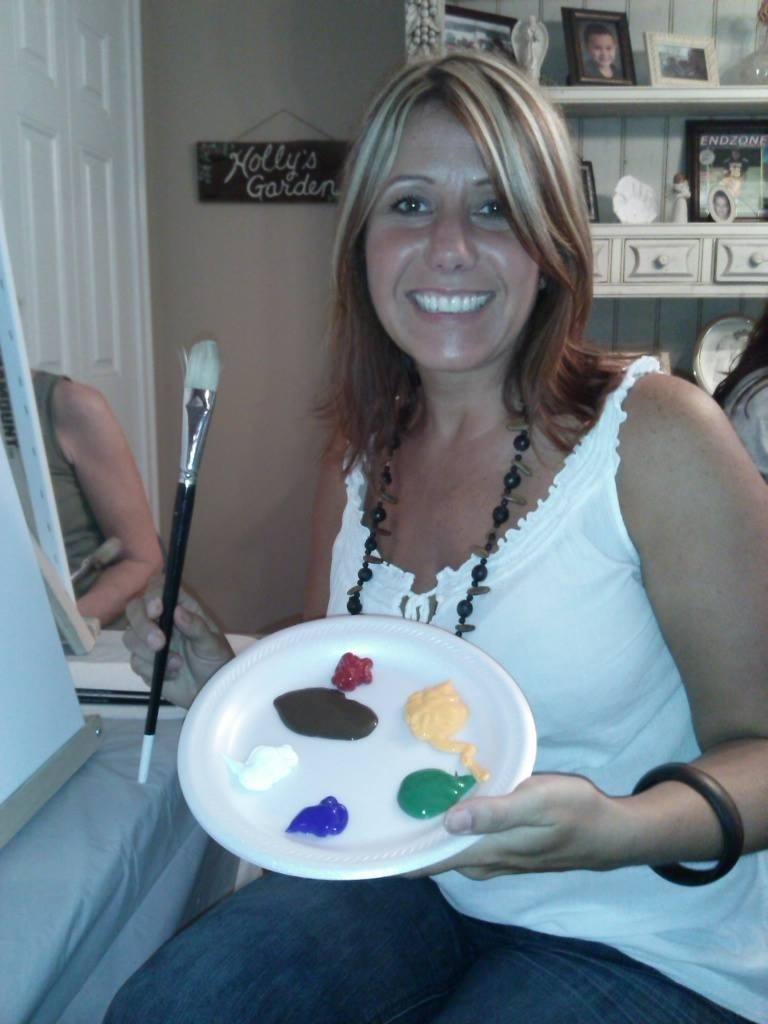 Sue G. at Kym's Paint the Town party!!