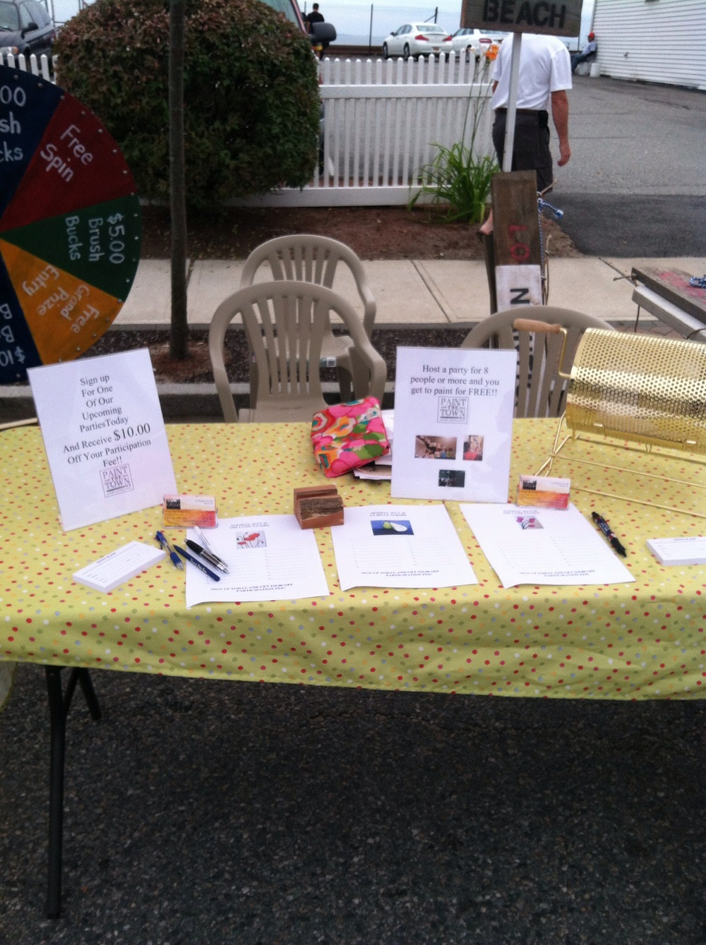 """Our booth at """"Celebrate East Lyme"""""""