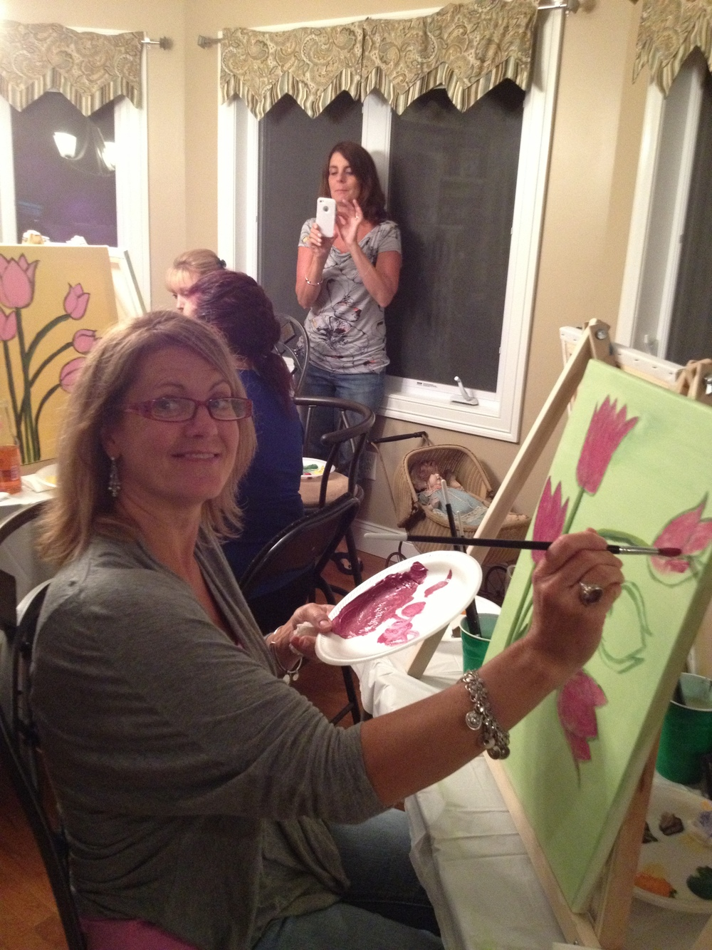 Lauren M. painting with her own flare
